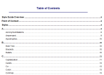 Create a Table of Contents Sample