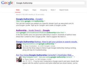 Authorship screen shot