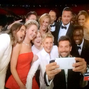 Oscars Group Selfie Sets Twitter Record