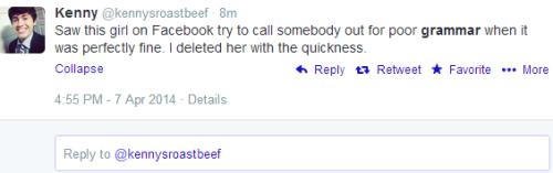 delete for grammar police