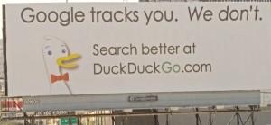 Duck Duck Go billboard ad